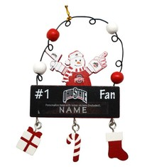 Ohio State Personalized Snowman Ornament