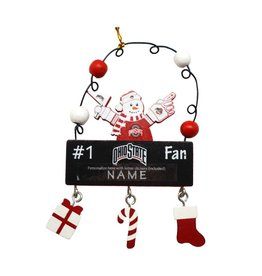 Ohio State Personalized Snowman Ornament