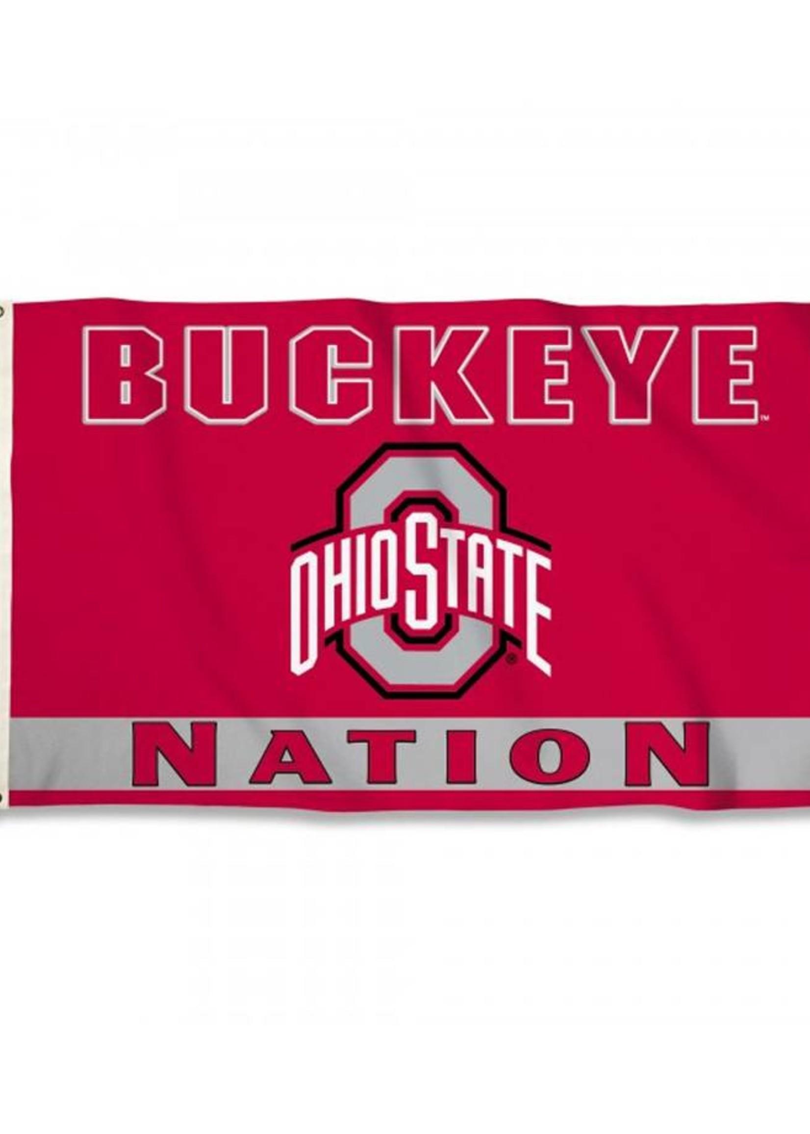 Ohio State Buckeye Nation 3x5 Premium Flag