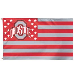 Wincraft Ohio State Deluxe WinCraft 3x5 Stars and Stripes Flag
