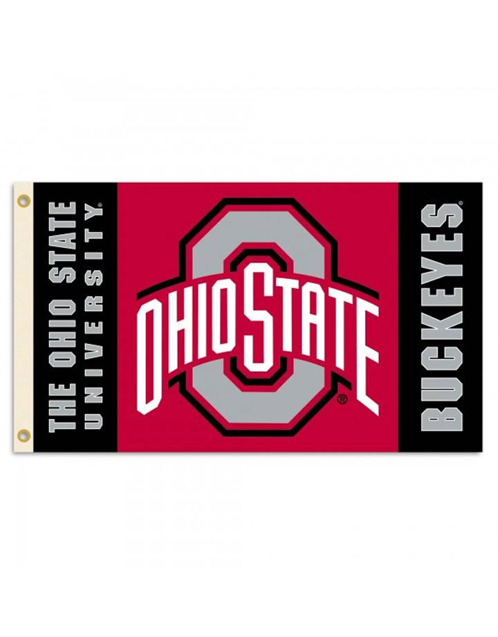 Ohio State Buckeyes 2-Sided 3x5 Flag With Grommets