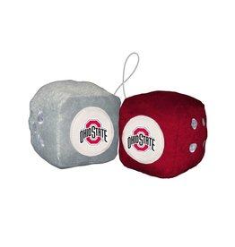 Ohio State Buckeyes Logo Auto Fuzzy Dice