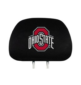 Ohio State Buckeyes 2pk Embroidered Headrest Cover