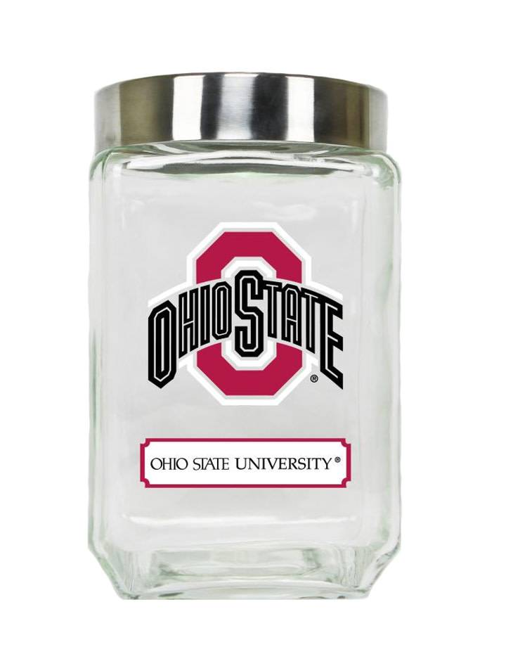 Ohio State University Large Glass Canister