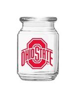 Ohio State Buckeyes 26oz Elevation Glass Jar
