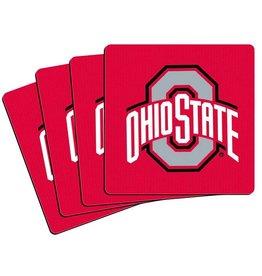 Ohio State Buckeyes 4pk Red Neoprene Coasters