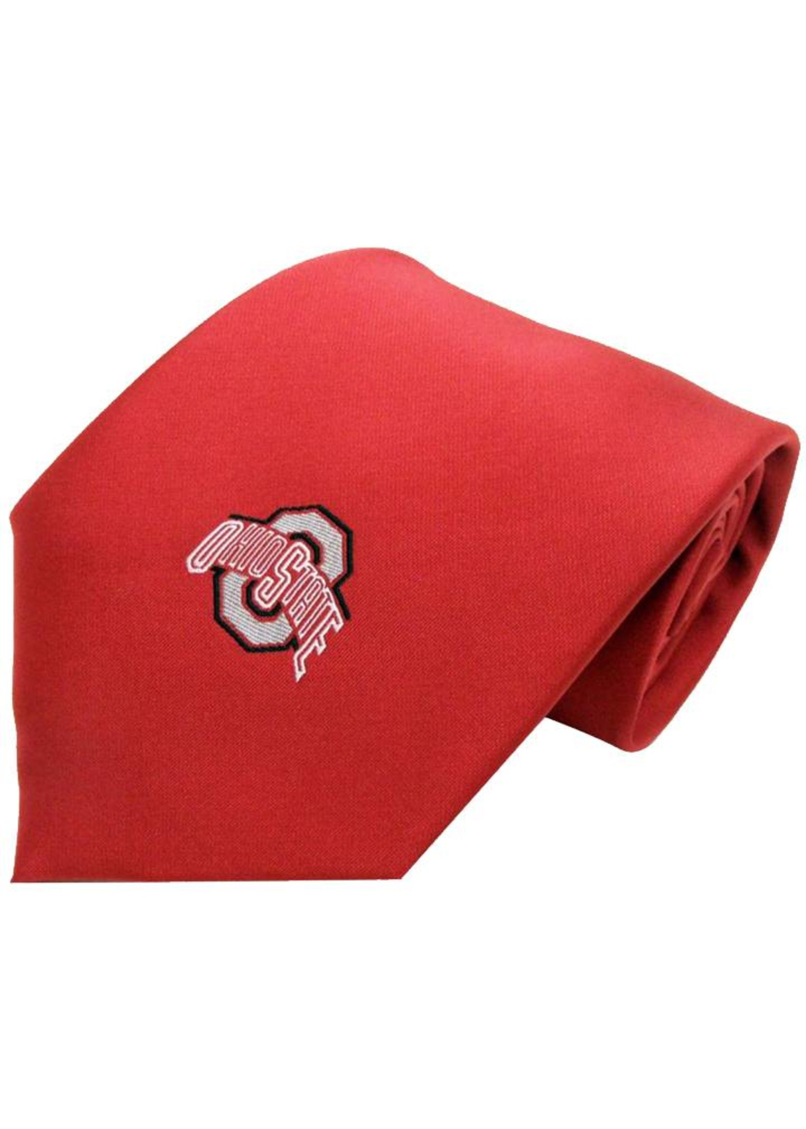 Ohio State Buckeyes Solid Red Necktie with Athletic O
