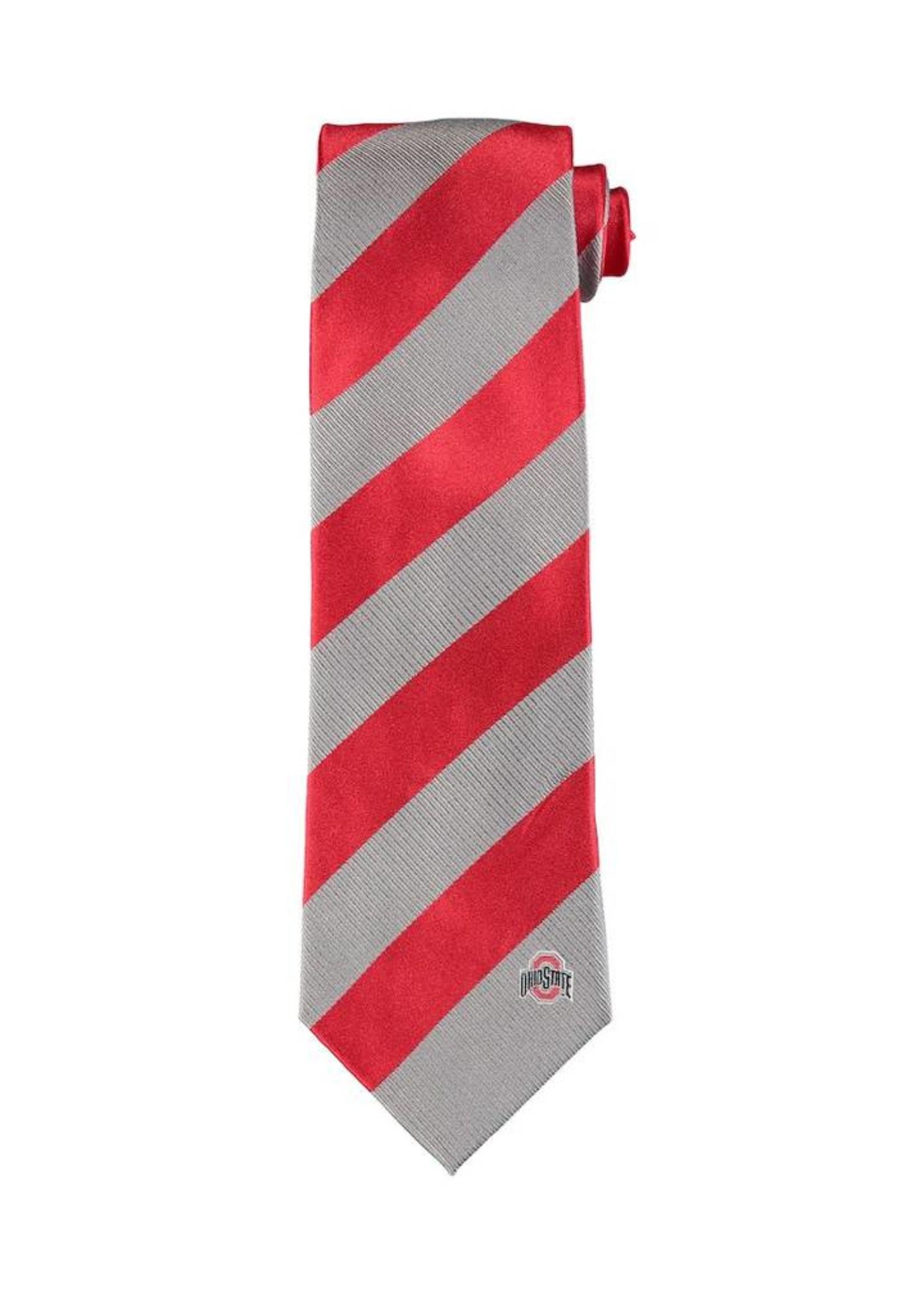 Ohio State Buckeyes Regiment Woven Silk Tie