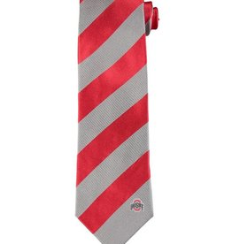 Ohio State Buckeyes Regiment Woven Silk Tie