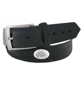 Ohio State Buckeyes Concho Black Leather Belt