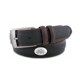 Ohio State Concho Two Tone Leather Belt