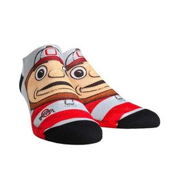 Ohio State Buckeyes Youth Mascot Ankle Socks