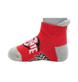 Ohio State Buckeyes Scarlet & Gray Baby Socks 12-24 Months