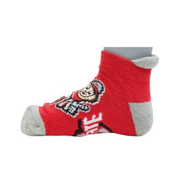 Ohio State Buckeyes Scarlet & Gray Youth Socks 3-5 Years