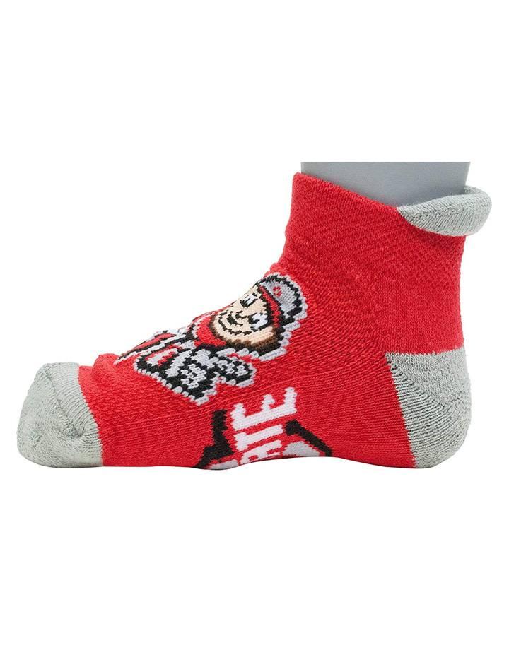 Ohio State Buckeyes Scarlet & Gray Youth Socks 3-5 Years