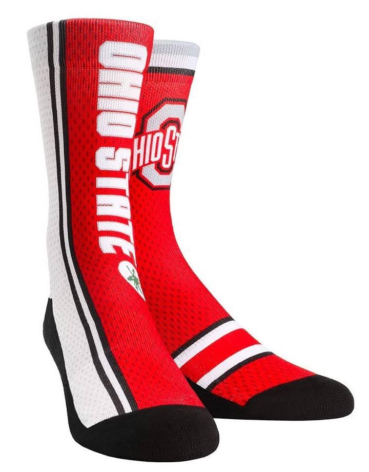 Ohio State Buckeyes Jersey Crew Socks