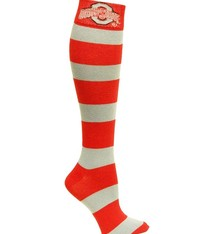 Ohio State University Striped Rugby Dress Socks