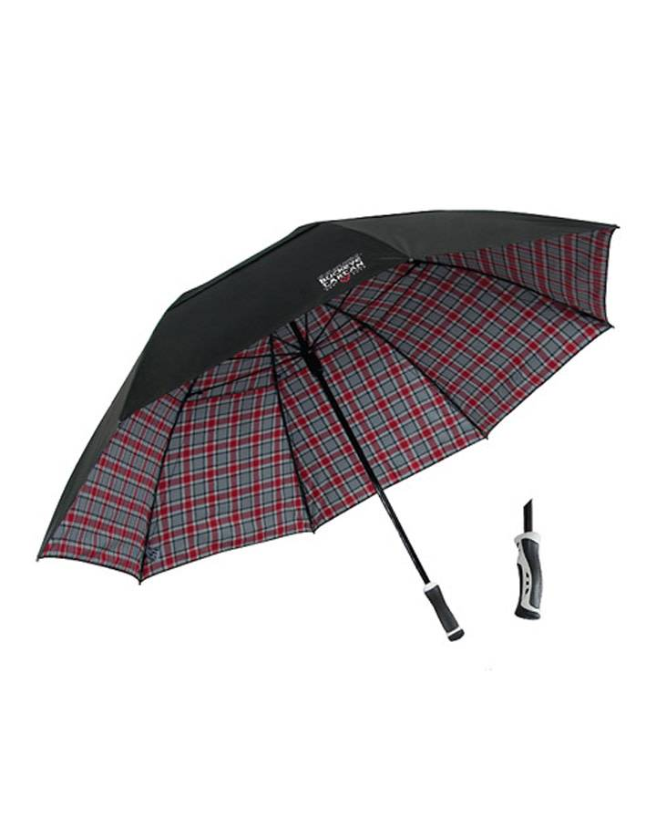 Ohio State University Tartan Double-Canopy Umbrella