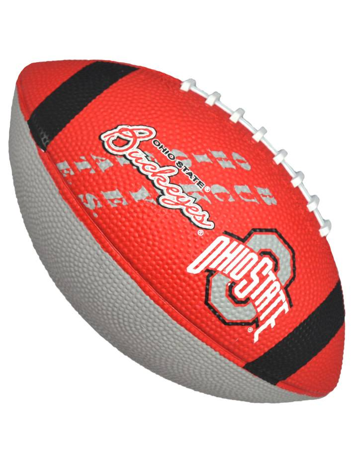 Ohio State Buckeyes Junior-Size Rubber Football
