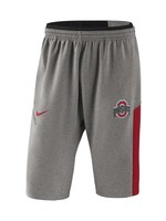 Nike Ohio State Buckeyes Heathered Gray  Fleece Shorts