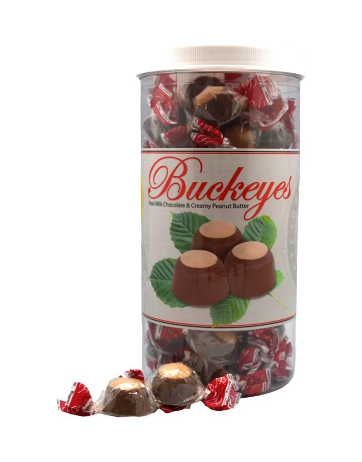 Milk Chocolate Buckeye Gift Cylinder 1.5 lbs