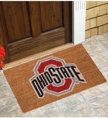 Ohio State Buckeyes Logo Coir Door Mat