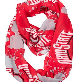 Ohio State University Splatter Infinity Scarf