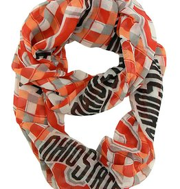 Ohio State University Infinity Plaid Scarf