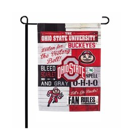 "Ohio State Buckeyes 12.5"" x 17.5"" 2-Sided Fan Rules Garden Flag"