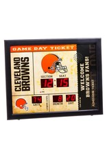 "Cleveland Browns 23"" x 18"" Bluetooth Scoreboard Wall Clock"