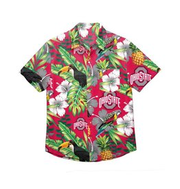Forever Collectibles Ohio State Buckeyes Floral Button Up Shirt