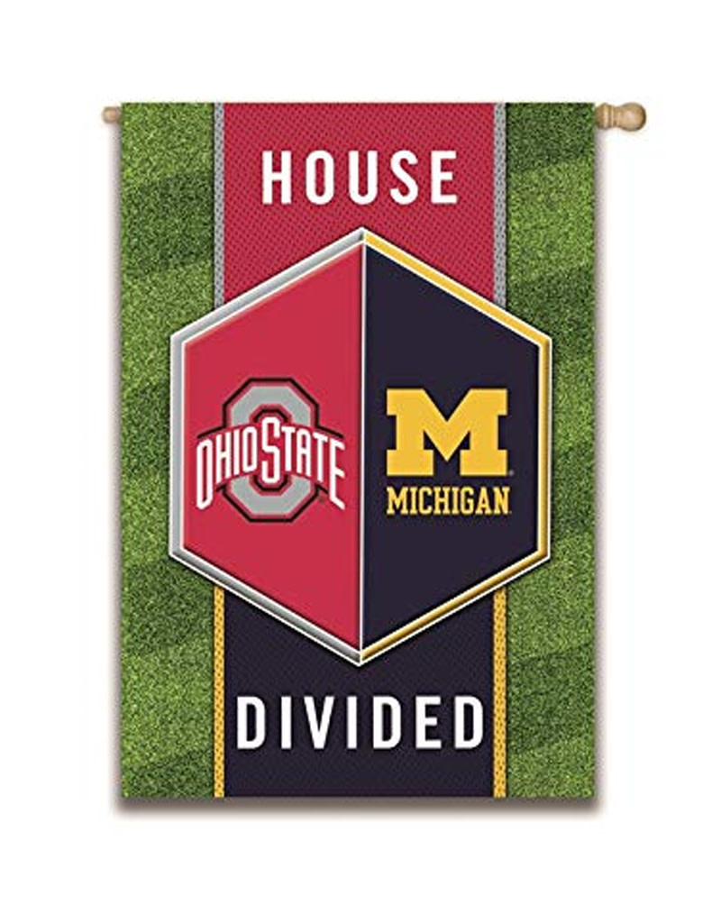 Ohio State Michigan House Divided Suede Flag Everything Buckeyes