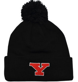 Youngstown State Penguins Black Cuffed Pom Hat