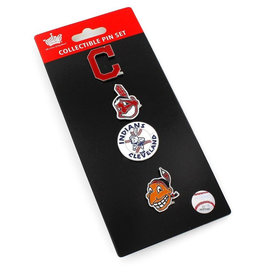 Cleveland Indians Logo Evolution Pin Set 4 pk