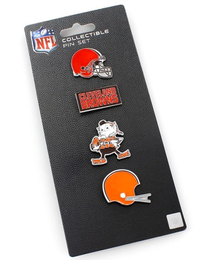 Cleveland Browns Logo Evolution Pin Set 4pk