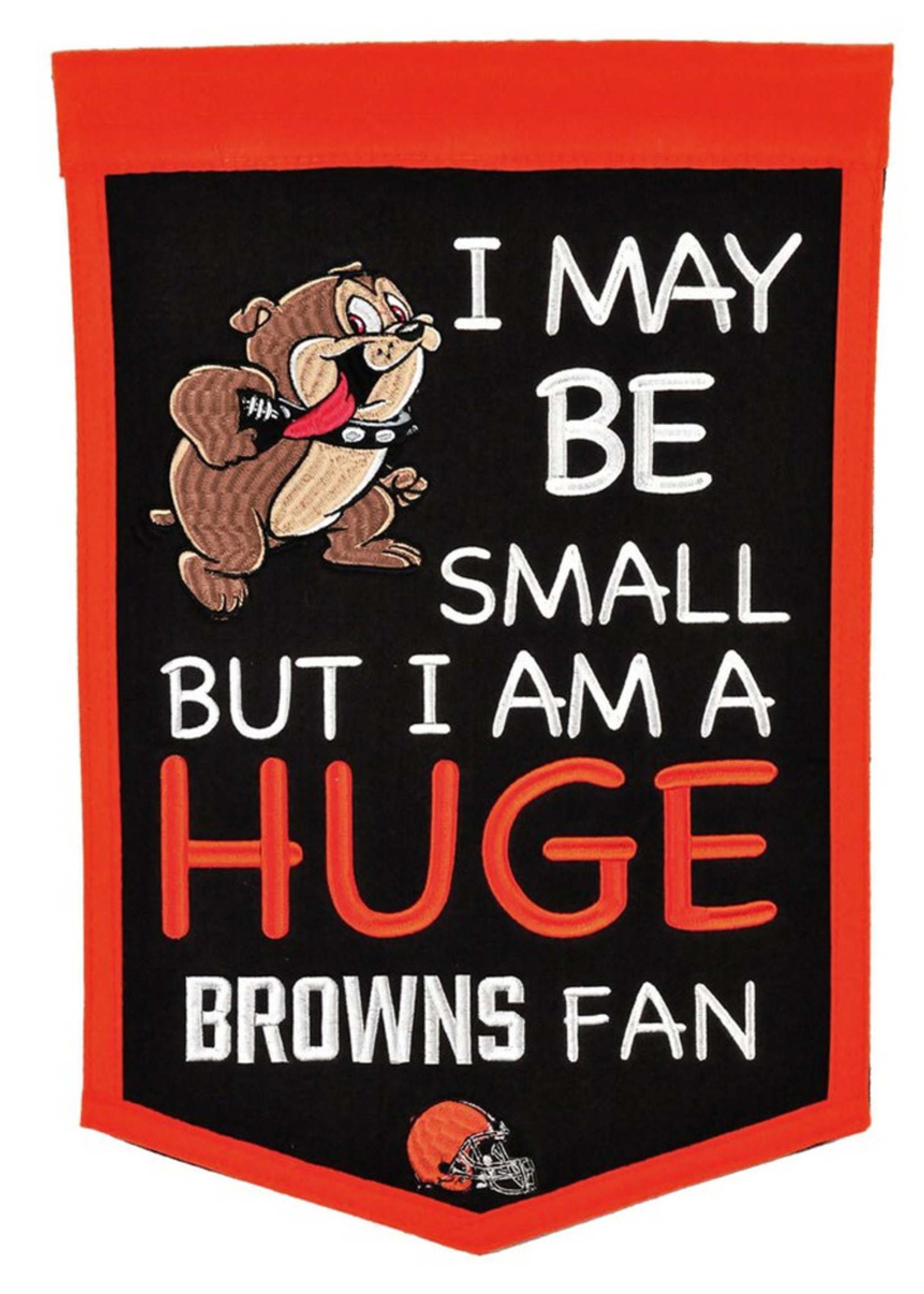"""Cleveland Browns 12"""" x 18"""" Lil Fan Traditions Banner"""