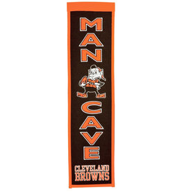 "Cleveland Browns 8"" x 32"" Man Cave Banner"