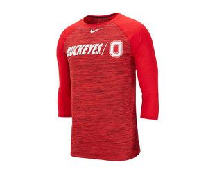 04236dc84 Ohio State Buckeyes College Dri-FIT Legend 3/4-Sleeve Shirt - Everything  Buckeyes