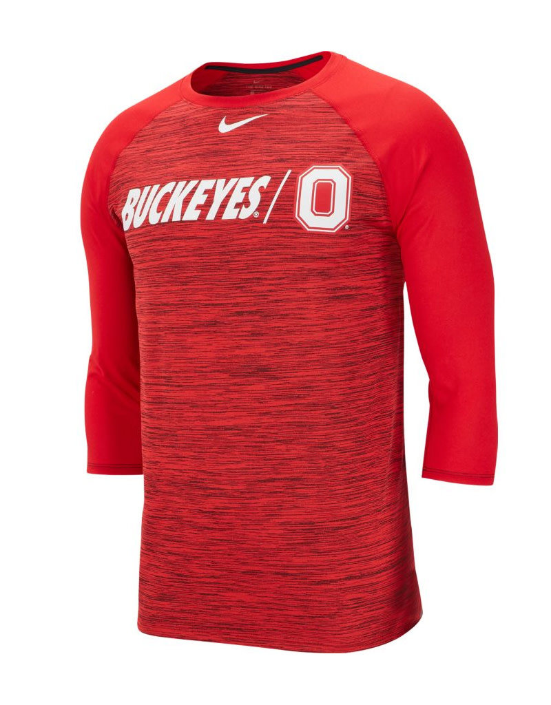 Nike Ohio State Buckeyes College Dri-FIT Legend 3/4-Sleeve Shirt