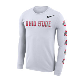 Nike Ohio State Buckeyes Dri-Fit Repeating Logo Long Sleeve
