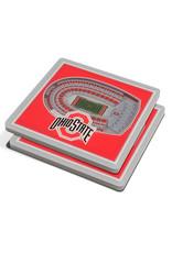 Ohio State Buckeyes 3D Stadium Views Coaster Set