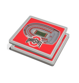 Ohio State Buckeyes 3D Stadium Views Coaster Set