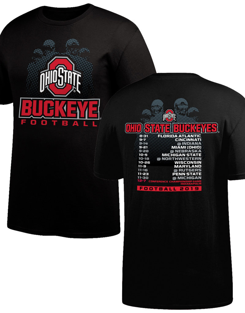 Top of the World Ohio State Buckeyes 2019 Schedule Tee