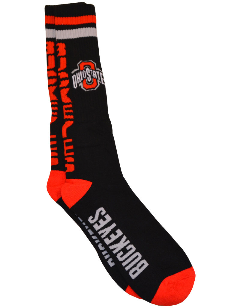 Ohio State Buckeyes  Athletic O Black Tube Socks