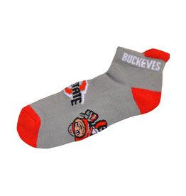 Ohio State Buckeyes Men's Footie Socks