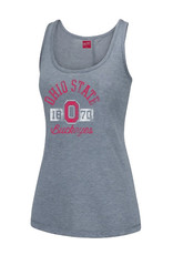 Top of the World Ohio State University Poly Ray Heather Gray Tank  Top