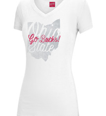Top of the World Ohio State University Go Bucks! Script Cotton Tee