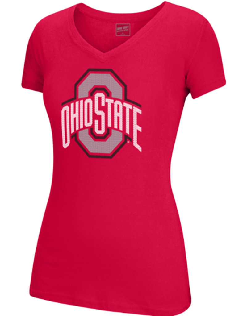 Top of the World Ohio State University Ath O Mesh Imprint Tee