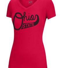 Top of the World Ohio State Buckeyes Script Ohio V-neck Tee