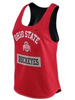 Nike Women's Nike Scarlet Ohio State Buckeyes Gear Up Dri-FIT Mesh Tank Top